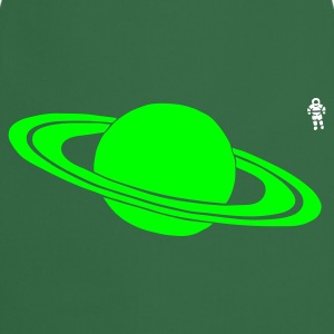 Green Saturn - Astronaut - Space - Planet  Aprons - Cooking Apron