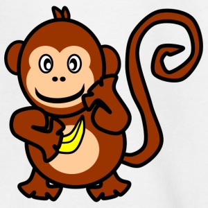 Monkey with Banana - Teenage T-shirt