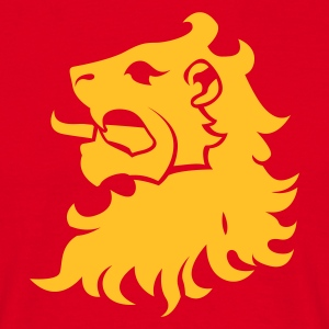 Rød lion head T-shirts - Herre-T-shirt