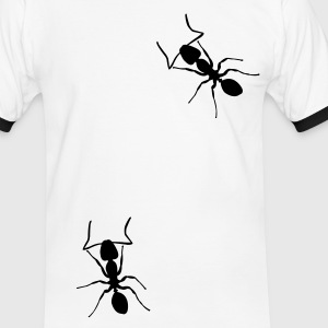Blanc/marine ant T-shirts - T-shirt contraste Homme