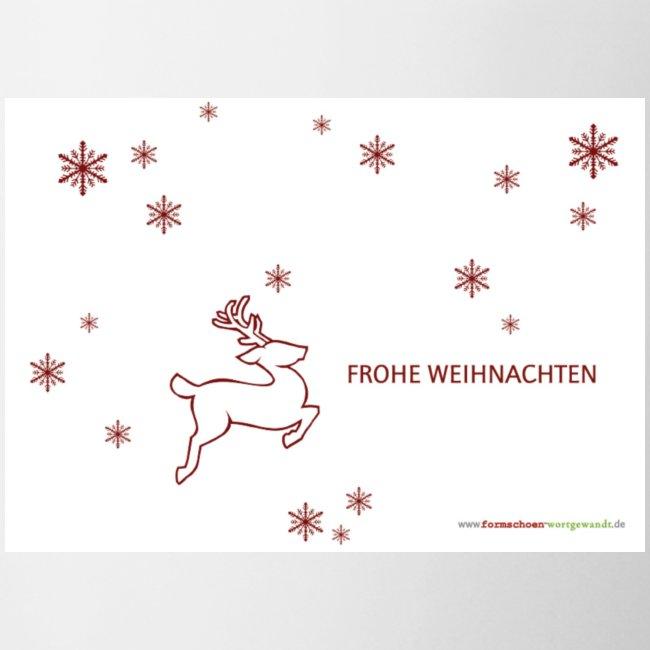 fIw Hirsch + Schneeflocken