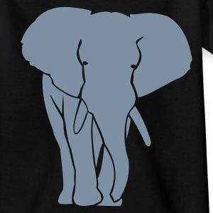 Kindershirt metalic zilveren olifant - Teenager T-shirt