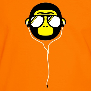 Orange/schwarz disco monkey T-Shirts - Männer Kontrast-T-Shirt