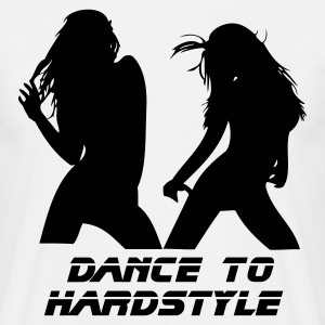 White Dance to Hardstyle Men's Tees - Men's T-Shirt