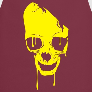 Bordeaux skull bad melting Kookschorten - Keukenschort