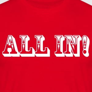 Rot All In Pokerstars T-Shirts - Männer T-Shirt
