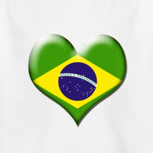Brazil Heart Flag - Teenage T-shirt
