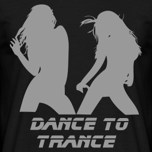 Black Dance to Trance Men's Tees - Men's T-Shirt