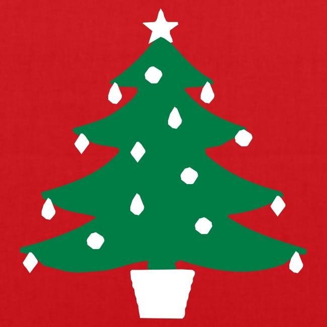 Happy Christmas Tree Glow Tote Bag