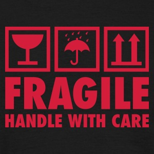 Schwarz fragile - handle with care T-Shirts - Männer T-Shirt
