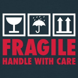 Navy fragile - handle with care T-Shirts - Männer T-Shirt