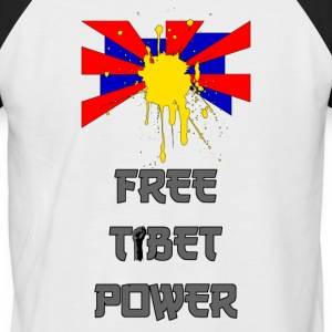 Free Tibet - T-shirt baseball manches courtes Homme