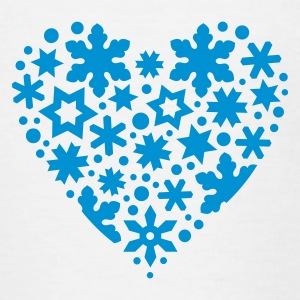 White snowflakes_and_stars_heart Kid's Shirts  - Teenage T-shirt