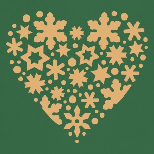 Green snowflakes_and_stars_heart  Aprons - Cooking Apron