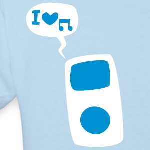 Hellblau musik - ipod - apple Kinder Shirts - Kinder Bio-T-Shirt