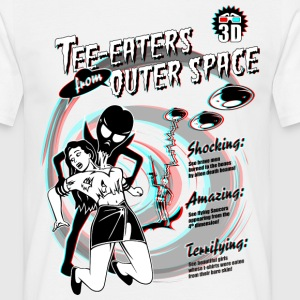 Weiß Tee-Eaters from Outer Space (3D) T-Shirts - Männer T-Shirt