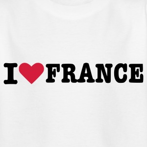 Weiß France - Frankreich Kinder Shirts - Teenager T-Shirt