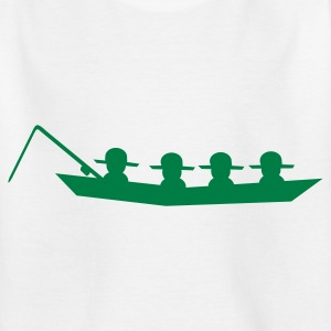 Weiß Angler - Fischen - Boot Kinder Shirts - Teenager T-Shirt