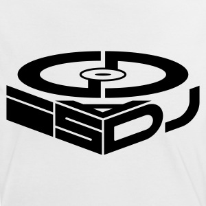 GOD Is A DJ BW - Women's Ringer T-Shirt