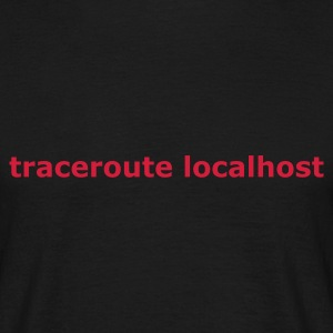 Svart traceroute localhost T-shirts - T-shirt herr
