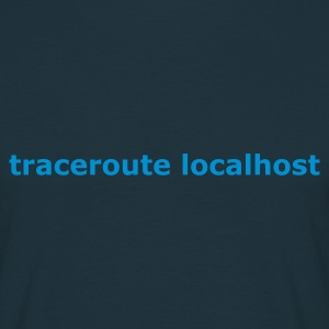 Navy traceroute localhost T-shirts - Mannen T-shirt