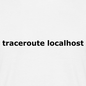 Blanc traceroute localhost T-shirts - T-shirt Homme