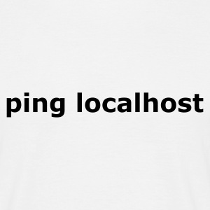 Blanc ping localhost - nerd - admin T-shirts - T-shirt Homme