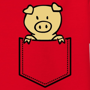 Rot Oink in Brusttasche Kinder Shirts - Teenager T-Shirt