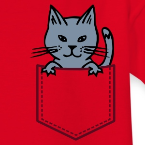 Rot Cat in Brusttasche Kinder Shirts - Teenager T-Shirt