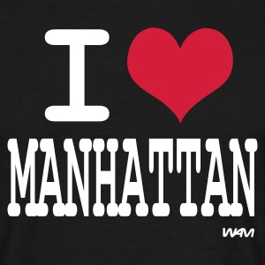 Noir i love manhattan by wam T-shirts - T-shirt Homme