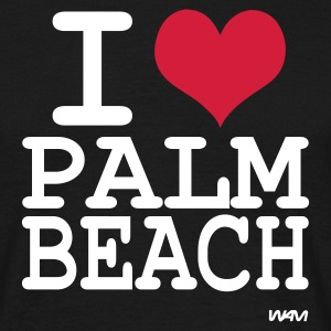 Noir i love palm beach  by wam T-shirts - T-shirt Homme