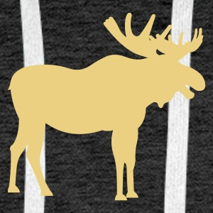 Brown snowy_moose Jumpers - Men's Premium Hoodie