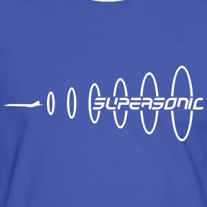 Blue/white Supersonic T-Shirts - Men's Ringer Shirt
