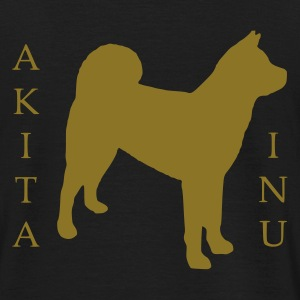 Tee-shirt homme Akita inu dans le dos version or - T-shirt Homme