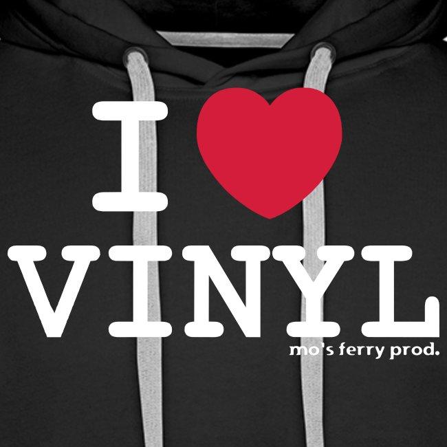 I LOVE VINYL Hoody (schwarz)