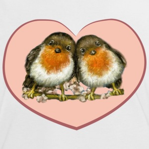 Two robins - Women's Ringer T-Shirt