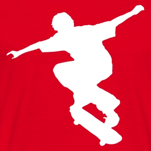 Red Skater - Skateboard - Skating Men's Tees - Men's T-Shirt