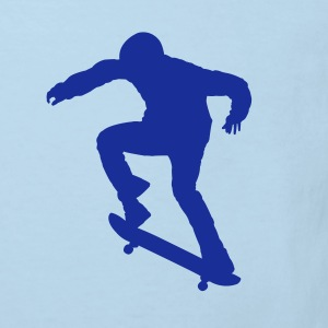 Skater - Skateboard - Skating Kinder Shirts Hellblau - Kinder Bio-T-Shirt