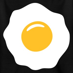 Schwarz egg ei spiegelei Kinder Shirts - Teenager T-Shirt