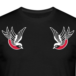 Old School sparrows T-shirts - T-shirt herr