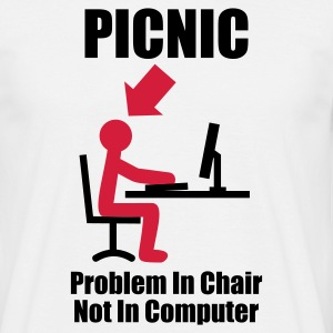White PICNIC - Problem in Chair, not in Computer - Computer - Admin Men's Tees - Men's T-Shirt