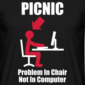 Noir PICNIC - Problem in Chair, not in Computer - Computer - Admin T-shirts - T-shirt Homme