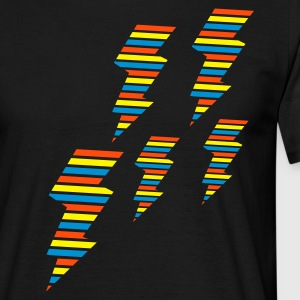 Schwarz tri color flash blitz electro power T-Shirts - Männer T-Shirt