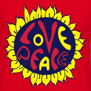 love and peace hippie tattoo style - Männer T-Shirt