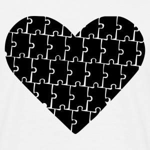 White Puzzle - Heart - Love Men's Tees - Men's T-Shirt