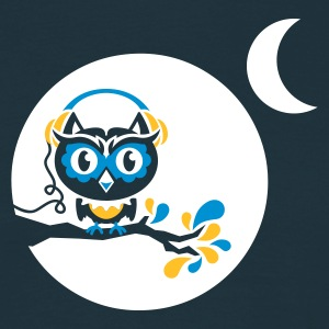 Navy night owl - for black shirts T-Shirts - Männer T-Shirt