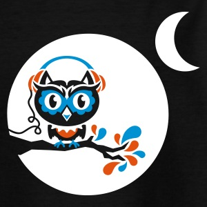 Schwarz night owl - for black shirts Kinder Shirts - Teenager T-Shirt