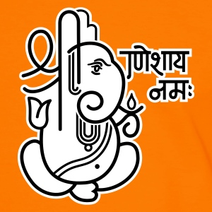 Orange/schwarz Ganesha Elefant (elephant) No.05_2c T-Shirts - Männer Kontrast-T-Shirt