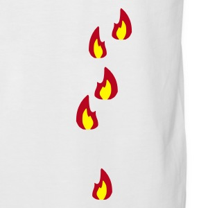 Sand/charcoal Fire - Flame - Hot - Burn Men's Tees - Men's Baseball T-Shirt