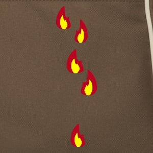 Brown / sand Fire - Flame - Hot - Burn Bags  - Retro Bag